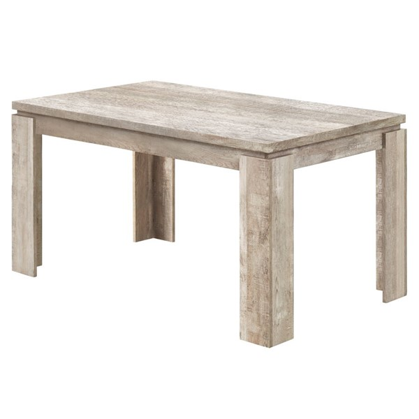 Monarch Specialties Taupe Particle Board Dining Table MNC-I-1088