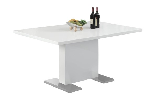Monarch Specialties White MDF Dining Table MNC-I-1090