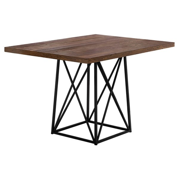 Monarch Specialties Brown Black Dining Table MNC-I-1107