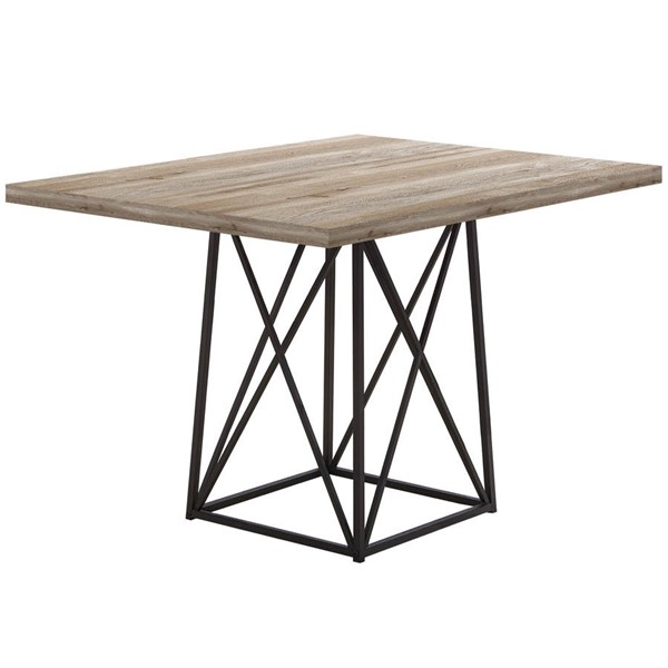 Monarch Specialties Taupe Black Dining Table MNC-I-1109
