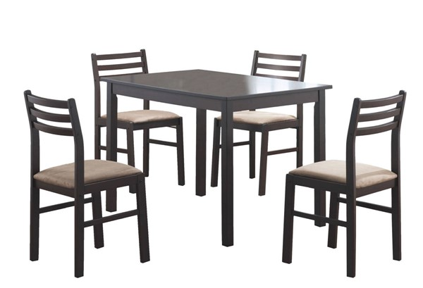 Monarch Specialties Cappuccino Beige 5pc Dining Set MNC-I-1111