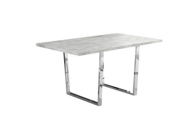 Monarch Specialties Grey Cement Metal Dining Table MNC-I-1119
