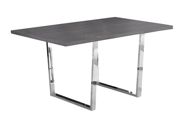 Monarch Specialties Grey Wood Metal Rectangle Dining Table MNC-I-1120