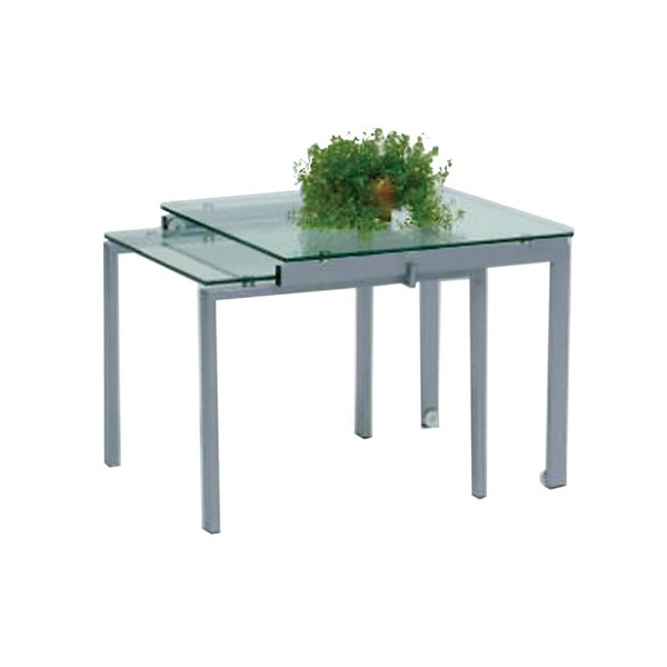 Monarch Specialties Silver Metal End Table MNC-I-1132