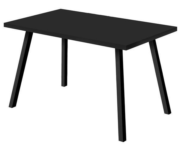 Monarch Specialties Black Reclaimed Wood 60 Inch Dining Table MNC-I-1139