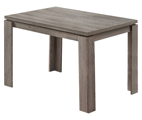 Monarch Specialties Dark Taupe Reclaimed Wood Dining Tables MNC-I-116-DT-VAR