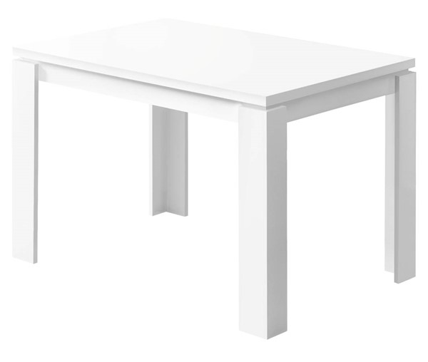 Monarch Specialties White Reclaimed Wood Dining Table MNC-I-1162