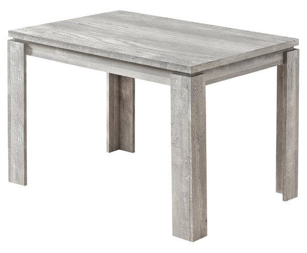 Monarch Specialties Grey Reclaimed Wood Dining Table MNC-I-1164