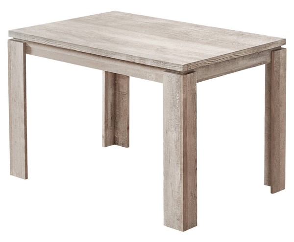 Monarch Specialties Taupe Reclaimed Wood Dining Table MNC-I-1165