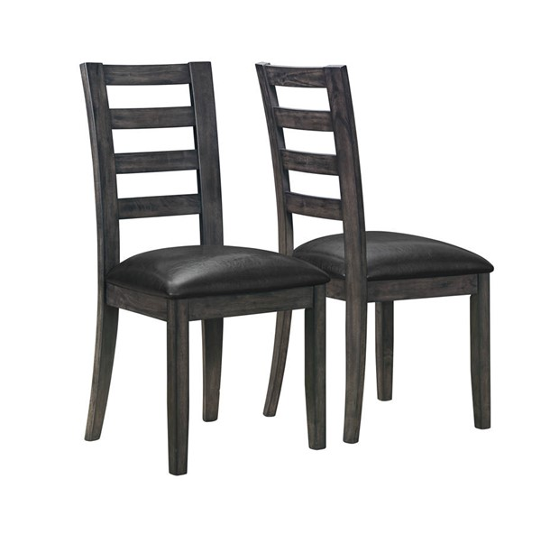 2 Monarch Specialties Grey Black Dining Chairs MNC-I-1601