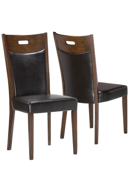 2 Monarch Specialties Brown Bonded Leather Dining Chairs MNC-I-1844