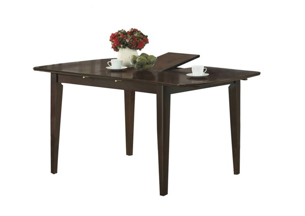 Monarch Specialties Cappuccino Solid Wood MDF Dining Table MNC-I-1897