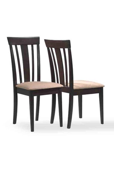 2 Monarch Specialties Cappuccino Beige Dining Chairs MNC-I-1898