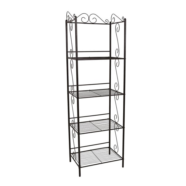 Monarch Specialties Brown Metal 70 Inch Height Bookcase MNC-I-2103