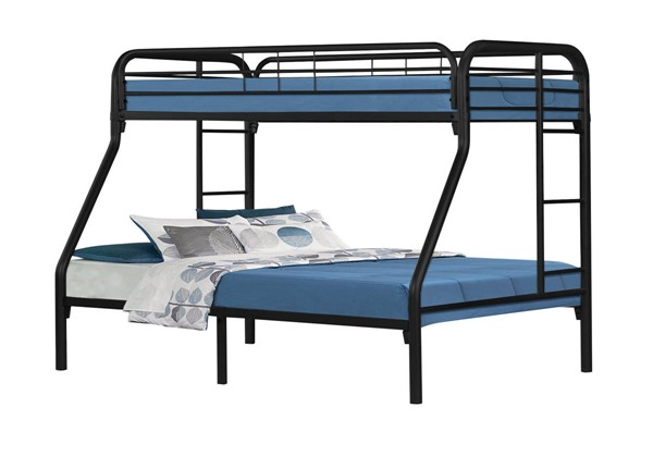 Monarch Specialties Black Metal Twin Full Bunk Bed MNC-I-2231K