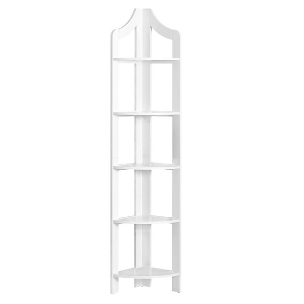 Monarch Specialties White 72 Inch Bookcase MNC-I-2419