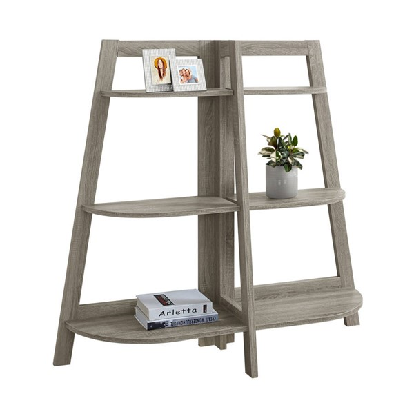 Monarch Specialties Taupe Bookcase MNC-I-2428