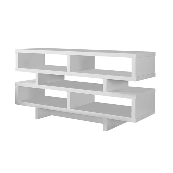 Monarch Specialties White TV Stand MNC-I-2461