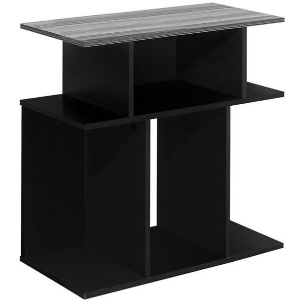 Monarch Specialties Black Grey Accent Table MNC-I-2477