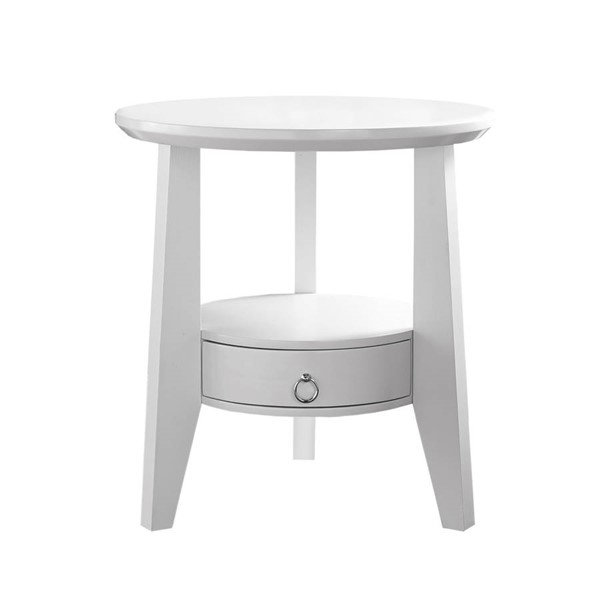 Monarch Specialties White Accent End Table MNC-I-2492