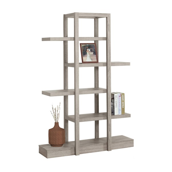 Monarch Specialties Taupe 71 Inch Bookcases MNC-I-2539-BC-VAR