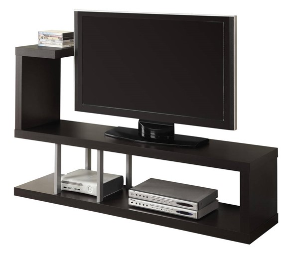 Monarch Specialties Cappuccino 60 Inch TV Stand MNC-I-2550