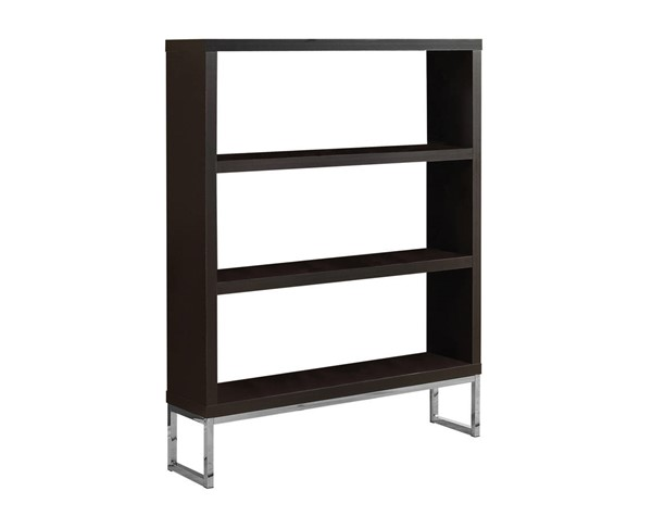 Monarch Specialties Cappuccino Metal Bookcase MNC-I-2558