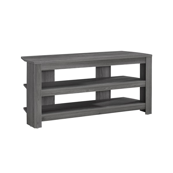 Monarch Specialties Grey Wood TV Stand MNC-I-2566