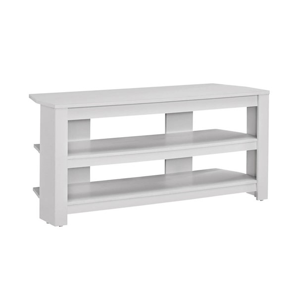 Monarch Specialties White Wood TV Stand MNC-I-2567
