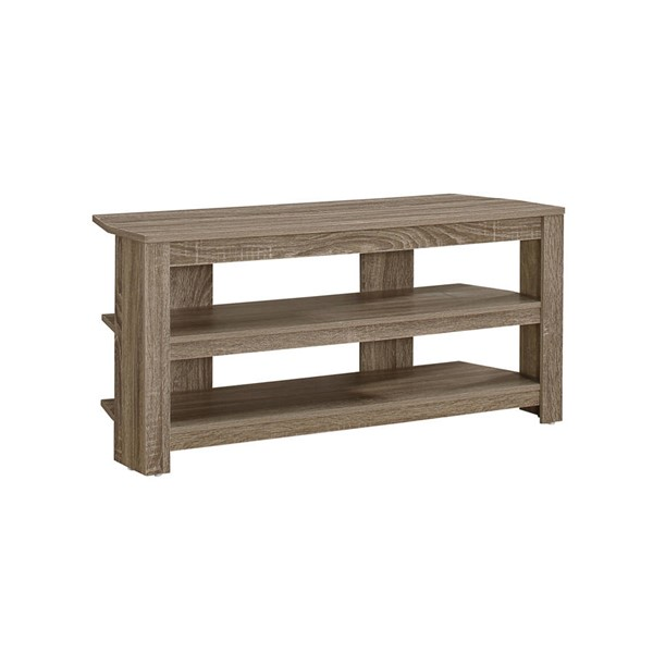 Monarch Specialties Taupe Wood TV Stand MNC-I-2569