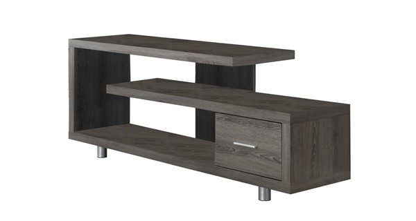 Monarch Specialties Taupe MDF 60 Inch TV Stand MNC-I-2574