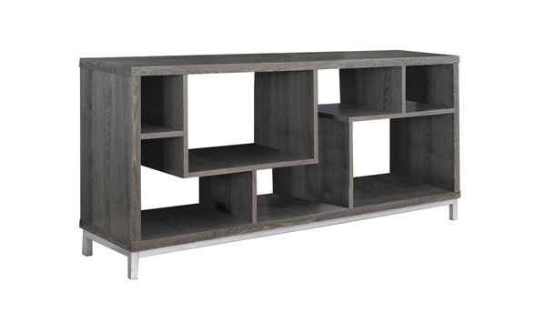 Monarch Specialties Taupe 60 Inch Storage TV Stand MNC-I-2578
