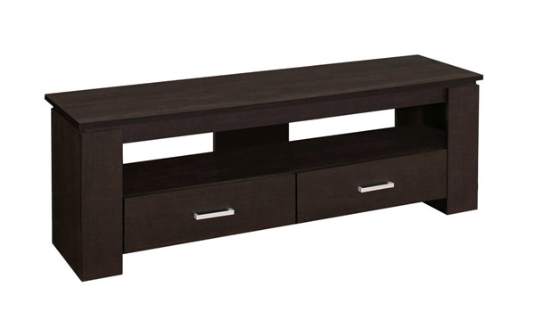 Monarch Specialties Cappuccino 2 Storage Drawers TV Stand MNC-I-2600