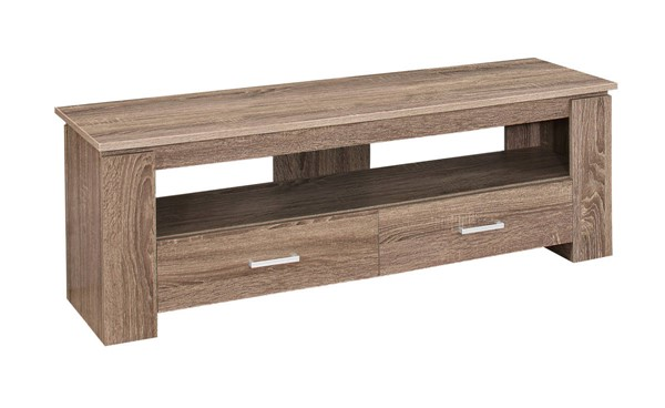 Monarch Specialties Taupe 2 Storage Drawers TV Stand MNC-I-2602