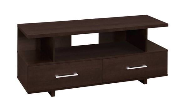 Monarch Specialties Cappuccino Storage Drawers TV Stand MNC-I-2606
