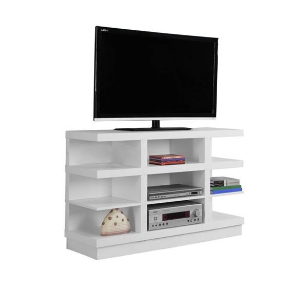 Monarch Specialties White MDF Open Storage TV Stand MNC-I-2687