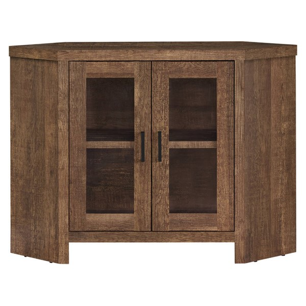 Monarch Specialties Brown Laminate MDF Glass TV Stand MNC-I-2707