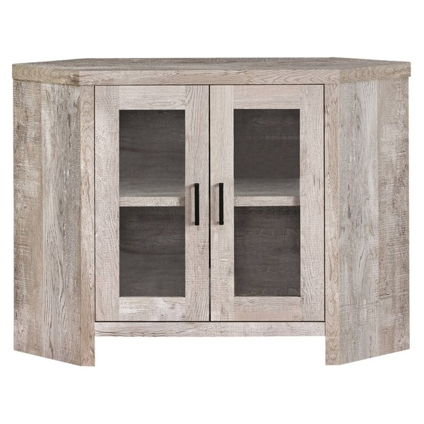 Monarch Specialties Taupe Laminate MDF Glass TV Stand MNC-I-2711