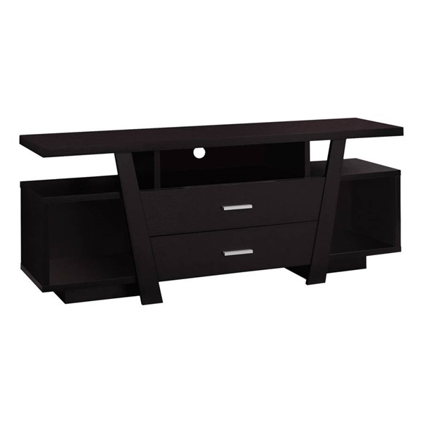 Monarch Specialties Cappuccino MDF Storage Drawers TV Stand MNC-I-2720