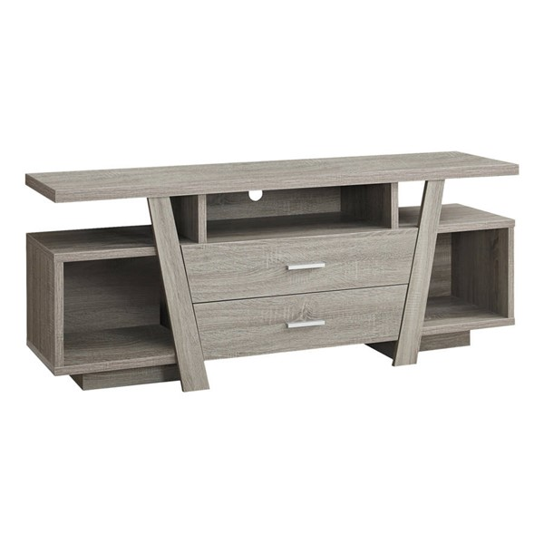 Monarch Specialties Taupe MDF Storage Drawers TV Stand MNC-I-2721