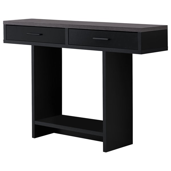 Monarch Specialties Black Grey 48 Inch Accent Table MNC-I-2813
