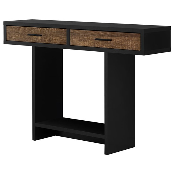 Monarch Specialties Black Brown Wood 48 Inch Accent Table MNC-I-2815