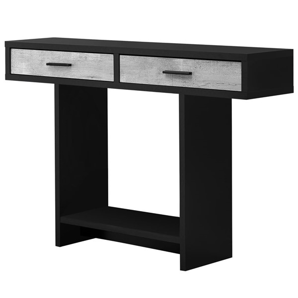 Monarch Specialties Black Grey Wood 48 Inch Accent Table MNC-I-2816