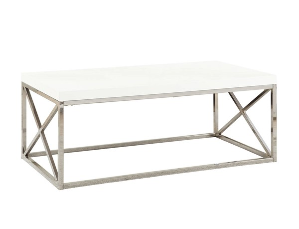 Monarch Specialties White Metal Coffee Tables MNC-I-3028-CT-VAR