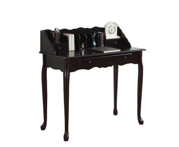 Monarch Specialties Cherry Solid Wood Office Desk MNC-I-3100