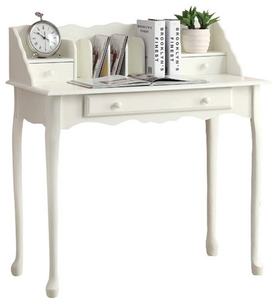 Monarch Specialties White Solid Wood Office Desk MNC-I-3103