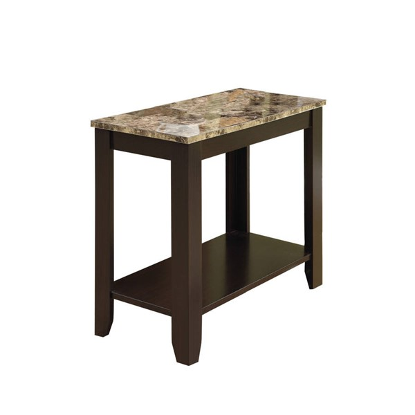 Monarch Specialties Cappuccino Laminate MDF Accent End Table MNC-I-3114