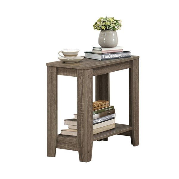 Monarch Specialties Taupe Wood Accent End Table MNC-I-3115