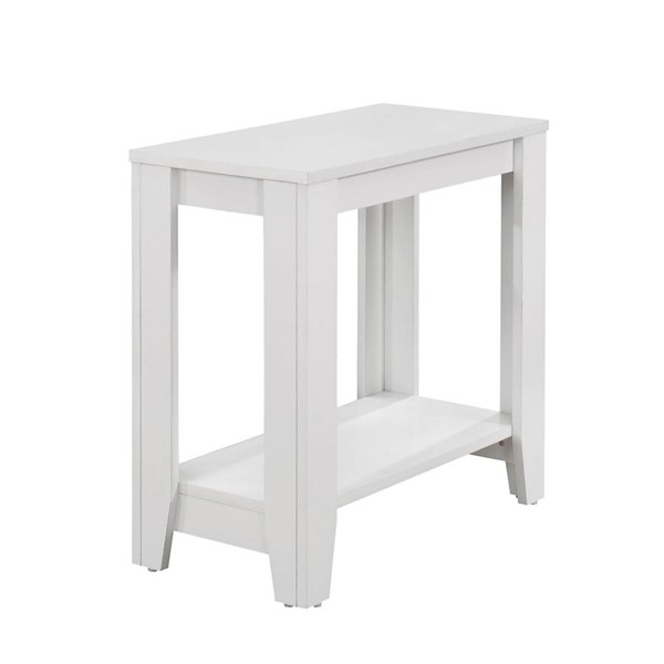 Monarch Specialties White Wood Accent End Table MNC-I-3117