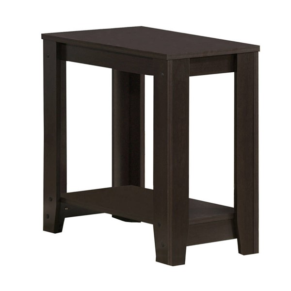 Monarch Specialties Cappuccino Wood Accent End Table MNC-I-3119